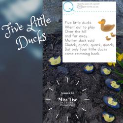 Five Little Ducks Poem