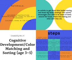 Cognitive Development-Matching Colours