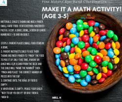 Make it a Math Activity