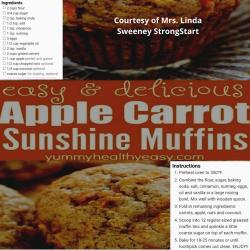 Apple Carrot Sunshine Muffins