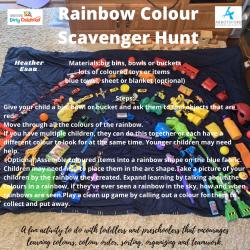 Rainbow Colour Scavenger Hunt